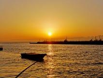 Coucher du soleil à Hakone Images stock