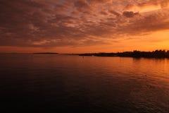 Coucher du soleil à Helsinki photographie stock libre de droits