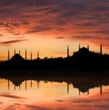 Coucher du soleil à Istanbul Photographie stock
