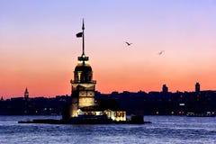 Coucher du soleil à Istanbul Photographie stock libre de droits