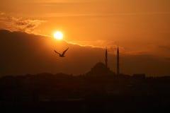 Coucher du soleil à Istanbul Images stock