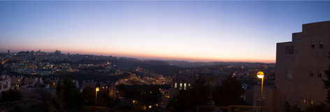 Coucher du soleil à Jérusalem Photographie stock libre de droits