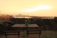Coucher du soleil à Jeju, Corée du Sud Images libres de droits