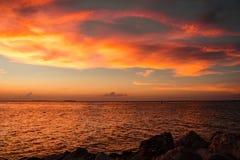 Coucher du soleil à Key West image stock