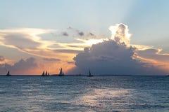 Coucher du soleil à Key West Photos libres de droits