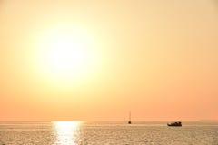 Coucher du soleil à l'île de Lipe Images libres de droits