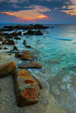 Coucher du soleil à l'île de Redang Photos stock