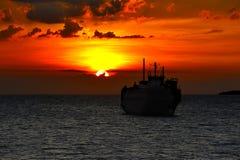 Coucher du soleil à l'île de Samui Image stock