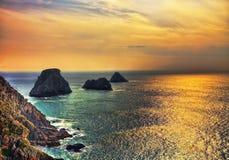 Coucher du soleil à l'extrémité du monde Photographie stock