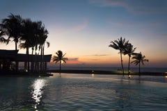 Coucher du soleil à l'hôtel impérial, Brunei photo stock