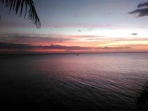 Coucher du soleil à la baie Photographie stock libre de droits