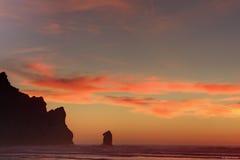 Coucher du soleil à la baie de Morro Images libres de droits