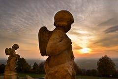 Coucher du soleil à la colline sainte Photo stock