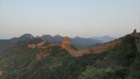 Coucher du soleil à la Grande Muraille de la Chine, Jinshanling banque de vidéos