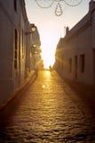 Coucher du soleil à la La Frontera de Vejer De Images stock