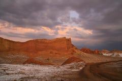 Coucher du soleil à la La Luna de Valle De Photographie stock libre de droits