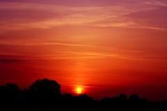 Coucher du soleil à la maison Images stock