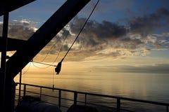 Coucher du soleil à la mer Égée Photographie stock