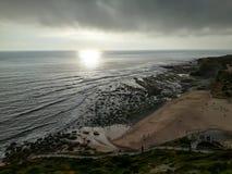 Coucher du soleil à la mer Photo stock
