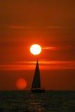 Coucher du soleil à la Mer Adriatique image stock