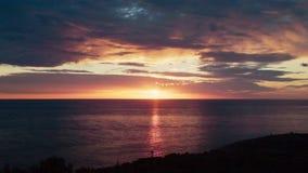 Coucher du soleil à la Mer Adriatique Croatie banque de vidéos