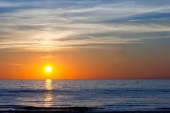 Coucher du soleil à la mer baltique Images libres de droits