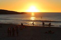 Coucher du soleil à la plage Images stock