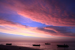 Coucher du soleil à la plage d'Ifaty Images libres de droits