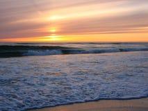 Coucher du soleil à la plage d'Orre, Norvège Photos libres de droits