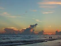 Coucher du soleil à la plage de clé de sièste, la Floride Photo stock