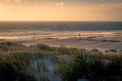 Coucher du soleil à la plage de Guincho Photos stock