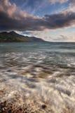 Coucher du soleil à la plage de Rossbeigh Image libre de droits
