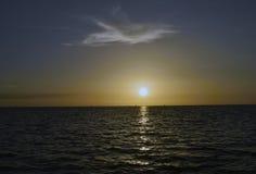 Coucher du soleil à la plage du Hudson photographie stock
