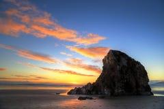 Coucher du soleil à la plage la Californie de Pismo photographie stock libre de droits