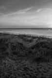Coucher du soleil à la plage ovale Images stock
