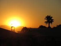 Coucher du soleil à la plage turque Photos libres de droits