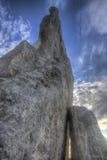 Coucher du soleil à la roche de Teter, Flint Hills, le Kansas Images libres de droits