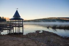 Coucher du soleil à la La Zeta de Laguna dans Esquel, Argentine image libre de droits