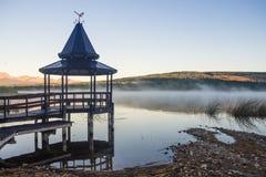 Coucher du soleil à la La Zeta de Laguna dans Esquel, Argentine photo stock