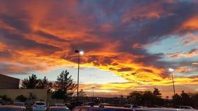 Coucher du soleil à Las Vegas Images libres de droits