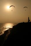 Coucher du soleil à Lima Image libre de droits