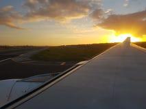 Coucher du soleil à Lisbonne image libre de droits