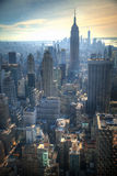 Coucher du soleil à Manhattan, New York Photos stock