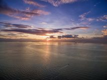 Coucher du soleil à Manille, Philippines Bay City, région de Pasay Image stock