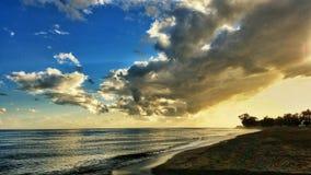 Coucher du soleil à Marbella Image stock