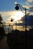 Coucher du soleil à Moscou Photos stock