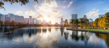 Coucher du soleil à Orlando Photo libre de droits