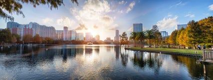 Coucher du soleil à Orlando Images stock