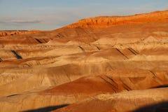 Coucher du soleil à peu désert peint, Arizona Images stock
