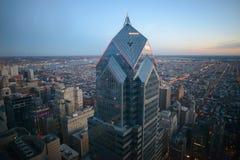 Coucher du soleil à Philadelphie Images libres de droits